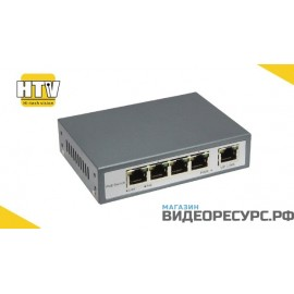 PoE коммутатор 4 порта 10/100Mbps HTV-POE3104