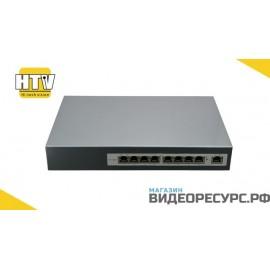 PoE коммутатор 9 портов 10/100Mbps HTV-POE3108-at(hp)