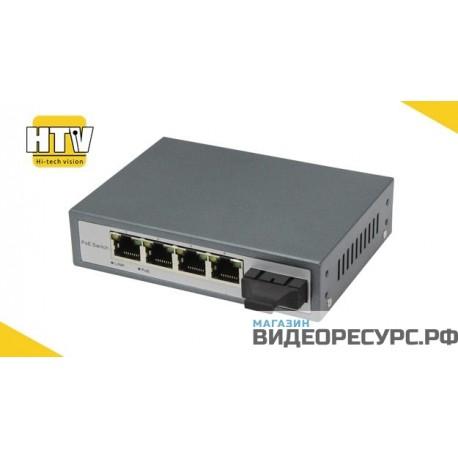 PoE коммутатор 4 порта 10/100Mbps HTV-POE3104SC